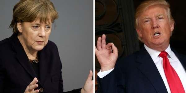Merkel Y Trump Se Reúnen En La Casa Blanca.