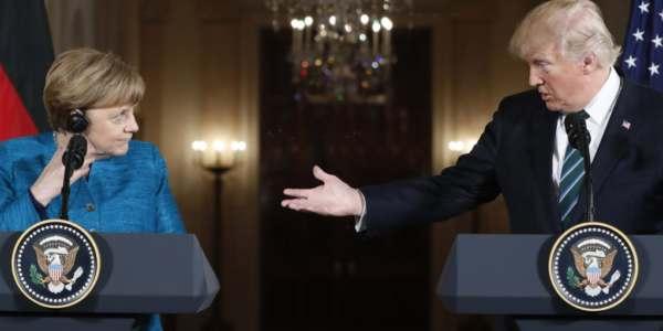 """Donald Trump Durante La Visita De Angela Merkel: """"La Seguridad En Inmigración Es Seguridad Nacional""""."""
