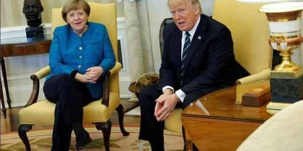 El Confuso E Incómodo Momento Entre Angela Merkel Y Donald Trump.