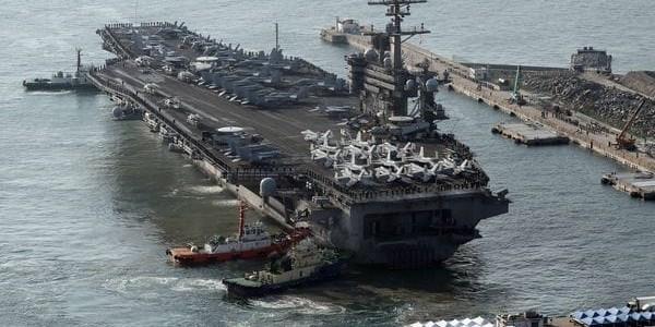 Tensión En La Península Coreana: Llegó El Portaaviones USS Carl Vinson Para Realizar Entrenamientos En La Zona.