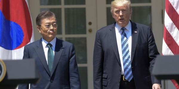 """Trump Trabaja En Acuerdo Comercial """"equitativo"""" Con Corea Del Sur."""