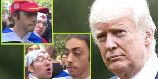 Liberales ATACAN A Un Manifestante Conservador Pacífico Y Demuestran Que Trump Tenía RAZÓN