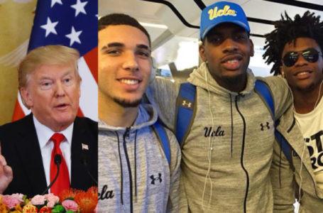 Trump Logra Que Deportistas De UCLA Arrestados En China Regresen A EEUU.