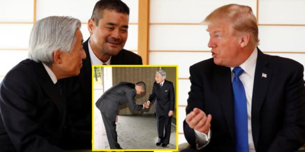 Trump SALUDÓ Al Emperador Japonés De Una Manera Completamente Diferente A La De OBAMA.