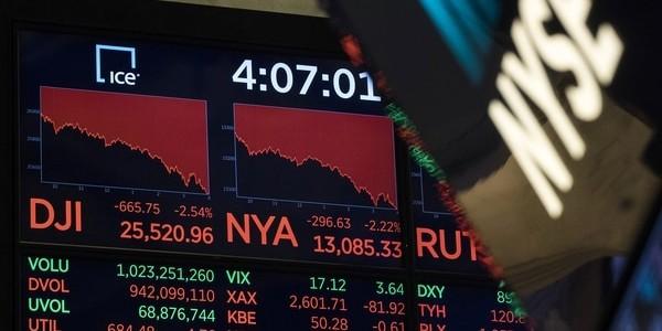 Histórica Caída En Wall Street: El Dow Jones Registró Una Baja Superior A Los 1.000 Puntos.