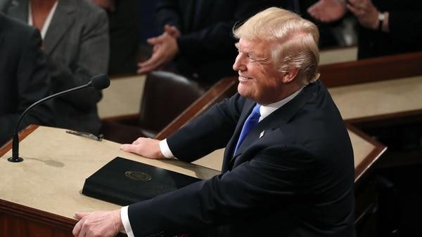 Trump enfatizó en su discurso la reformafiscal y el aumento del empleo. (REUTERS)