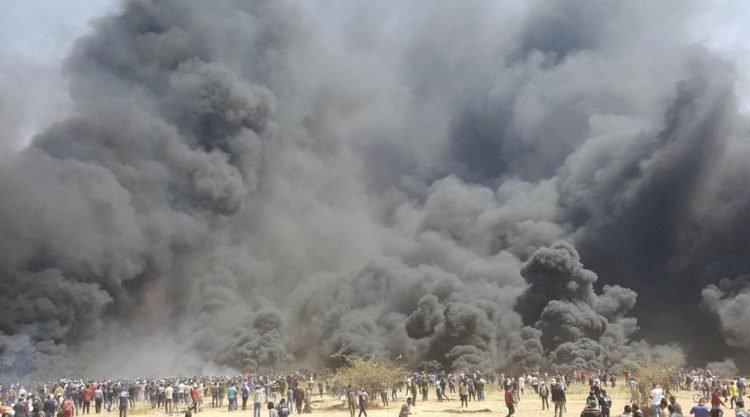 Cientos De Heridos Y Al Menos 7 Muertos En Protestas Masivas En Gaza.