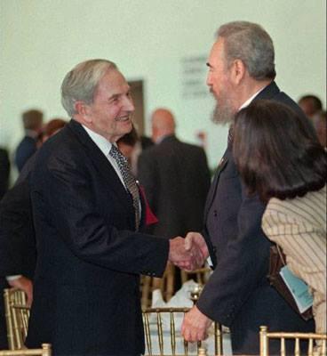 David Rockefeller y Fidel Castro