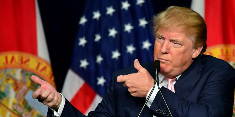 """Trump Defiende El Uso De Las Armas Como """"un Derecho De Libertad"""" Ante Los """"verdaderos Patriotas"""" De La Asociación Del Rifle."""