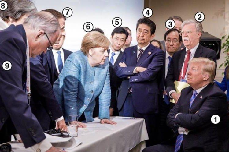Quién Es Quién En La Foto De Merkel Y Trump Que Resume La Tensa Cumbre Del G7