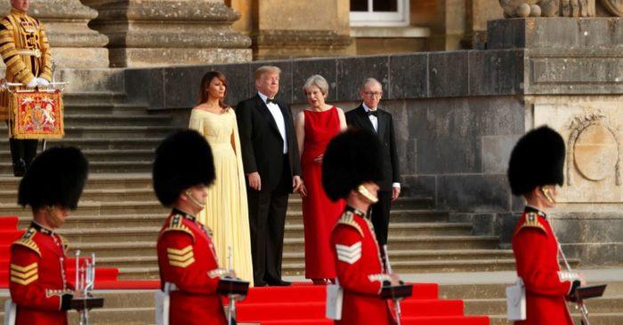 Gran Bretaña Recibe Al Presidente Trump Con Honores.
