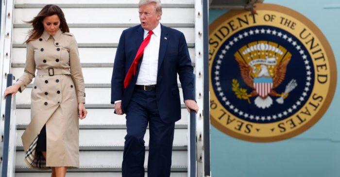 Donald Trump Llega A Bélgica Para Una Reunión Con Los Aliados De La OTAN.