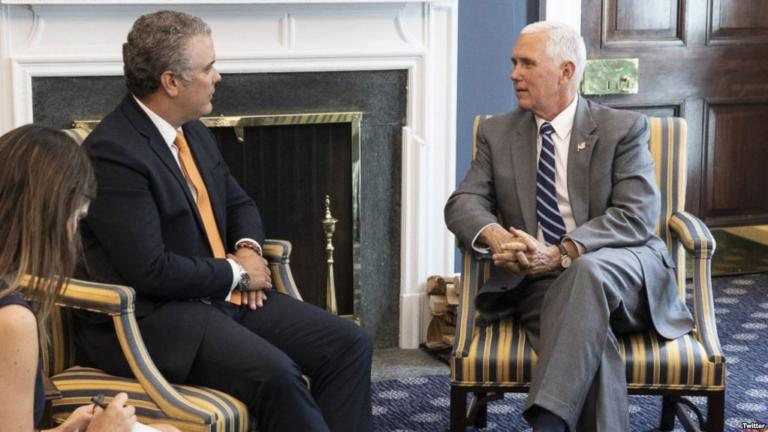 Duque Y Pence Acuerdan Mantener Presión A Maduro.