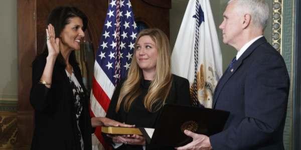 Haley Presta Juramento Como Nueva Embajadora Ante La ONU