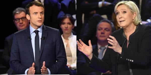 Macron Y Le Pen Pasan A La Segunda Vuelta De Las Elecciones Presidenciales Francesas, Según Los Sondeos.