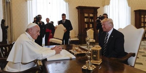 El Papa Francisco Recibió A Donald Trump En El Vaticano.