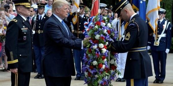 """Donald Trump Honró A Los Militares Caídos En Combate Y Pidió Homenajearlos """"por Mil Años Más"""""""