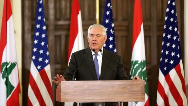 """En Su Visita Al Líbano, Rex Tillerson Reiteró Que Hezbollah Es Una """"amenaza"""" Para Medio Oriente."""