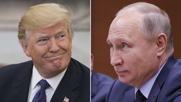 Donald Trump Habló Con Vladimir Putin Sobre El Conflicto Entre Israel Y Los Palestinos.