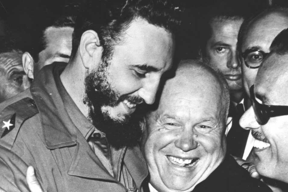 http://www.allartnews.com/wp-content/uploads/2010/03/Cuban-Prime-Minister-Fidel-Castro-left-is-embraced-by-Soviet-Premier-Nikita-Khrushchev.jpg