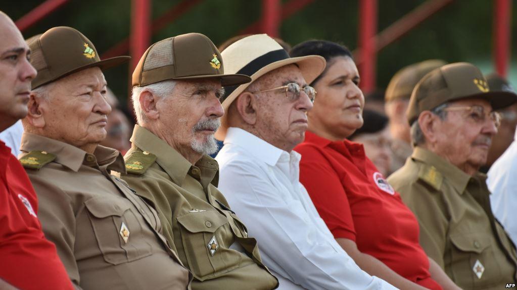 Guillermo García Frías, Ramiro Valdés, José Ramón Machado Ventura, Gladys Martínez.
