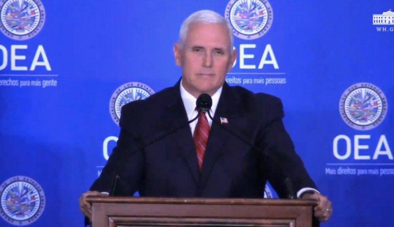 Pence Anuncia Más Sanciones Y Pide Suspender A Venezuela De La OEA.