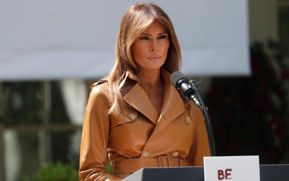 Deslumbrante: Melania Trump Presenta Una Campaña Para Combatir El 'ciberbullying' Entre Los Niños.