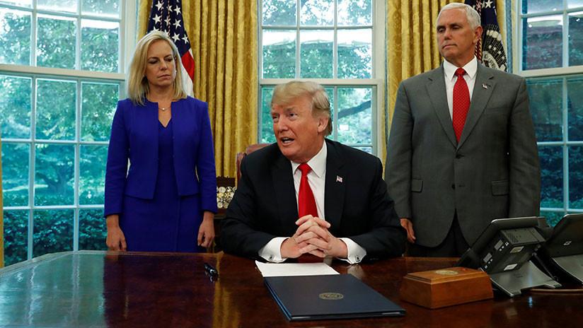 Trump Firma Orden Ejecutiva Para Acabar Con La Separación De Las Familias De Migrantes Irregulares.