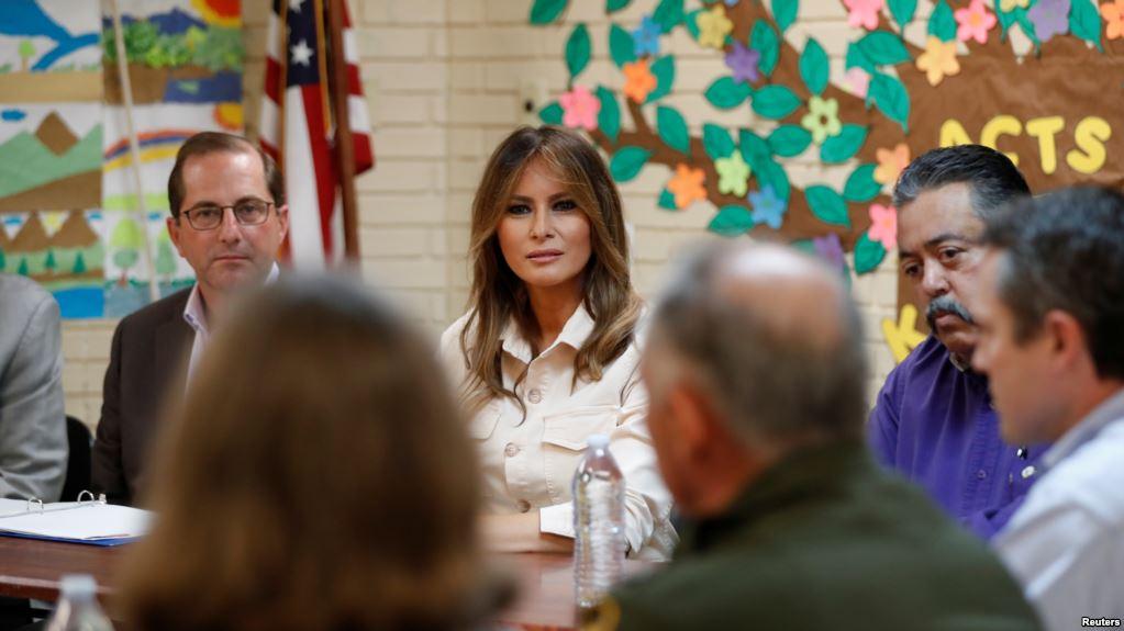 Melania Trump Visita Centro De Detención De Niños Migrantes En Texas.