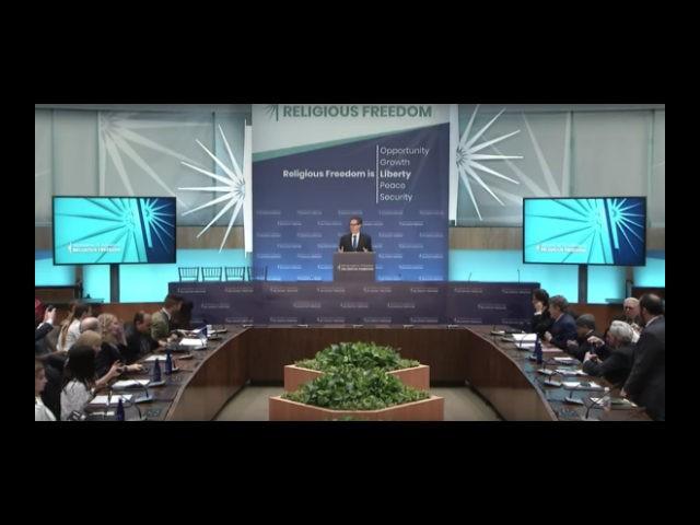 Administración Trump Organiza Conferencia Ministerial Sobre La Libertad Religiosa.