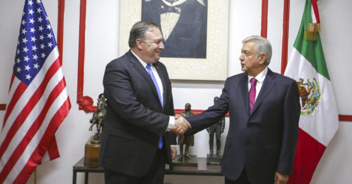 Mike Pompeo Y AMLO Confían En Que Mejorarán Las Relaciones Bilaterales Entre EE.UU Y México.