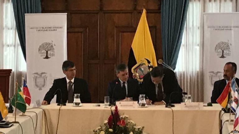 11 Países Firman Declaración De Quito Sobre Crisis Migratoria De Venezolanos.