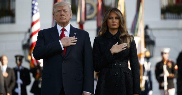 Donald Y Melania Trump Rinden Homenaje A Las Víctimas Del Ataque Terrorista Del 11S
