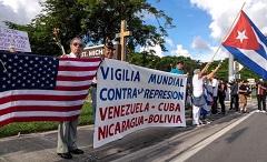 VIGILIA EN VARIAS CIUDADES DEL MUNDO POR LAS VÍCTIMAS DE LA REPRESIÓN EN CUBA, VENEZUELA, BOLIVIA Y NICARAGUA
