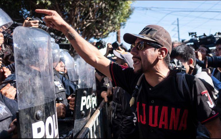Chocan En Tijuana Por Repudio A Migrantes